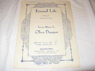 ETERNAL LIFE OLIVE DUNGAN 1949 SHEET MUSIC FOLDER 431 SHEET MUSIC Music
