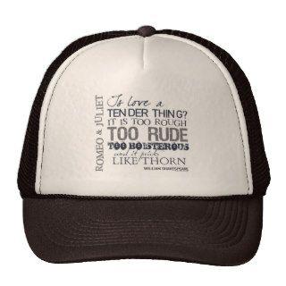 Romeo & Juliet Love Quote Hat