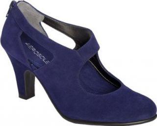 Aerosoles Women's Streetscape Pump,Dark Blue Suede,12 M US Shoes