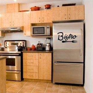 Bistro Kitchen Vinyl Wall Decals Sticker Quote Decor Art for Home