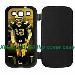NFL Green Bay Packers Aaron Rodgers Samsung Galaxy S3 SIII protective flip cover Cases Green Bay Packers logo: Cell Phones & Accessories