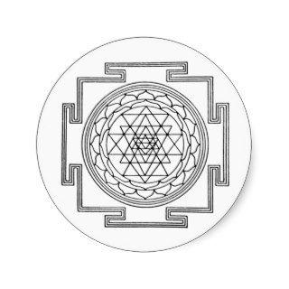 Sri Yantra Mandala Round Stickers