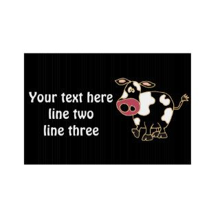 CR  Funny Cow Yard Sign