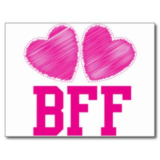 BFF Best friends forever  awesome Postcard