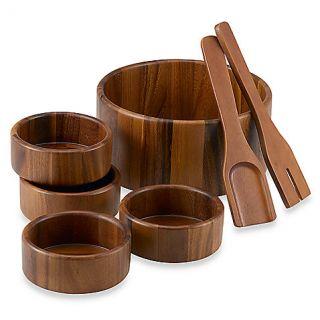 Acacia 7 Piece Salad Bowl Set