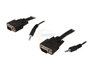 Rosewill 50 ft. VGA / SVGA Male to Male Cable w/ 3.5mm Stereo Audio Cable Model RCW H9026