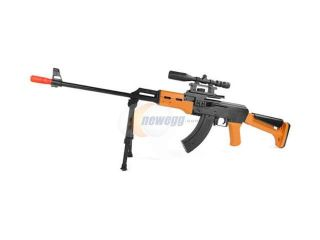 Warrior AK 47 Airsoft Spring Sniper Rifle + Spring Double Eagle P169 Pistol + 1000 BBs
