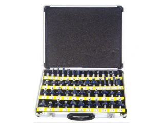 Neiko 1/2 Inch Tungsten Carbide Router Bit Set   80 Pieces w/ Aluminum Case
