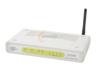 Airnet AWR014G8 108Mbps 4 Port Wireless Router Switch IEEE 802.11b/g Wireless LAN