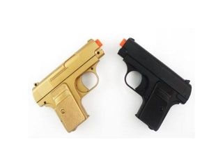James Bond TWIN Pocket Pistols 180 FPS (Gold and Black)