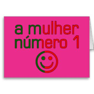 A Mulher Número 1   Number 1 Wife in Portuguese Card