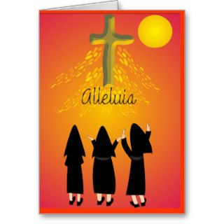 """Alleluia"" Catholic Religious Gifts Greeting Cards"