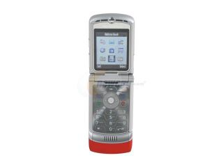 Motorola RAZR Red  Unlocked GSM Flip Phone With Stylish Design (V3)