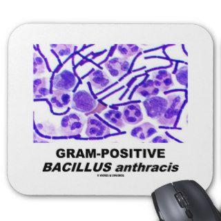 Gram Positive Bacillus anthracis (Bacteria) Mousepads