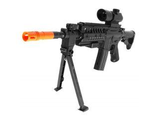 Spring RIS Sniper Rifle Bipod, Scope FPS 200 Airsoft Gun with LED Lights Airsoft Gun