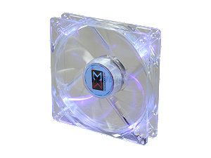XIGMATEK Cooling System Crystal Series CLF F1255 120mm Purple LED Case Fan PSU Molex Adapter/extender included
