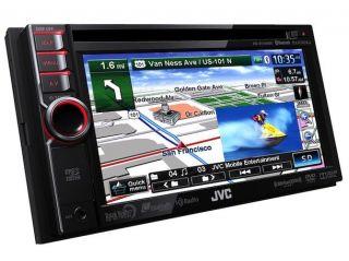 "JVC KW NT310 In Dash 6.1"" DVD//USB Car Stereo Receiver w/ Bluetooth, Navigation, Pandora and Ultra Speed CPU"