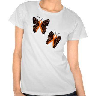 Orange ribbon butterflies shirt