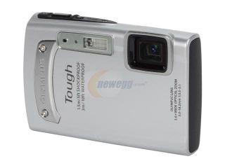 OLYMPUS TG 310 Silver 14.0 MP 3.6X Optical Zoom Waterproof Shockproof 28mm Wide Angle Digital Camera