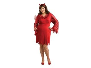 Female Devil Satan Red Costume Dress Adult Plus Size