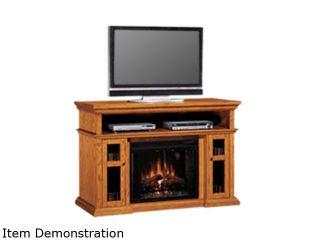 "ClassicFlame Pasadena Collection 60"" Wide Media Mantel Electric Fireplace (Premium Oak) 28MM468 O107"