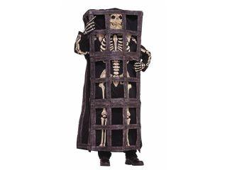 Scary Skeleton Prisoner In Cage Jail Costume Adult Standard
