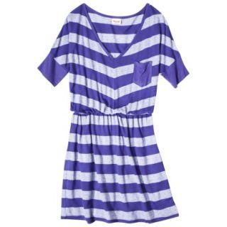 Mossimo Supply Co. Juniors V Neck Elbow Sleeve Dress   Blue Magic S(3 5)