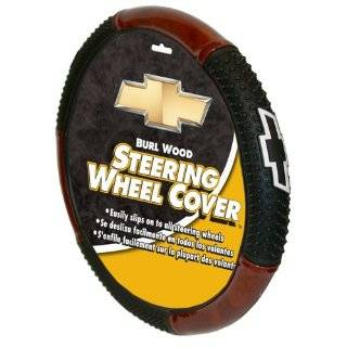 Chevy Logo Burl Wood Style Steering Wheel Cover