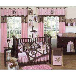 Pink and Chocolate Teddy Bear Girls Baby and Kids Wall Border by JoJo