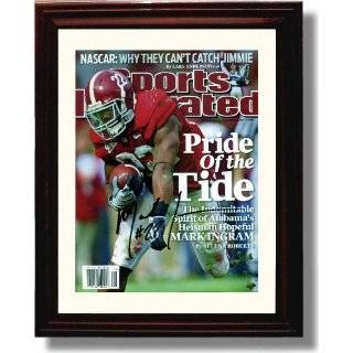 Framed Nick Saban Autograph Print   Alabama Crimson Tide